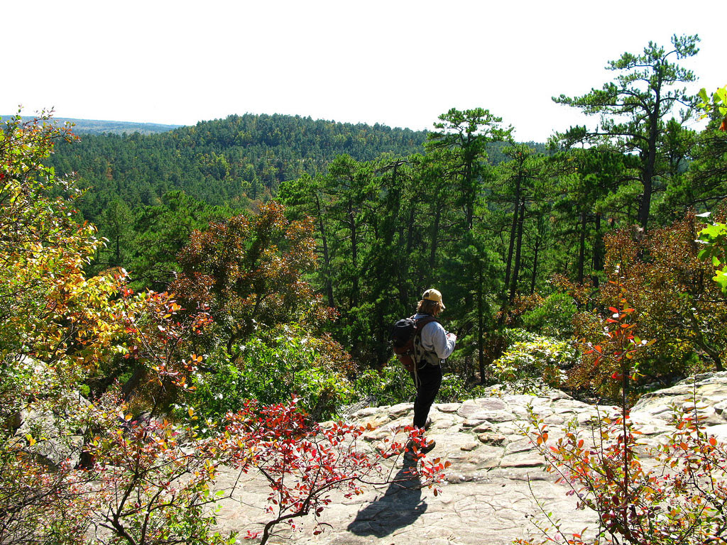 Robbers Cave State Park in Oklahoma features a number of scenic hiking trails suited to both novice hikers and those looking for a challenge.